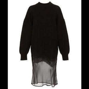 NWOT ALEXANDER WANG Mixed Media Silk/Wool Dress XS